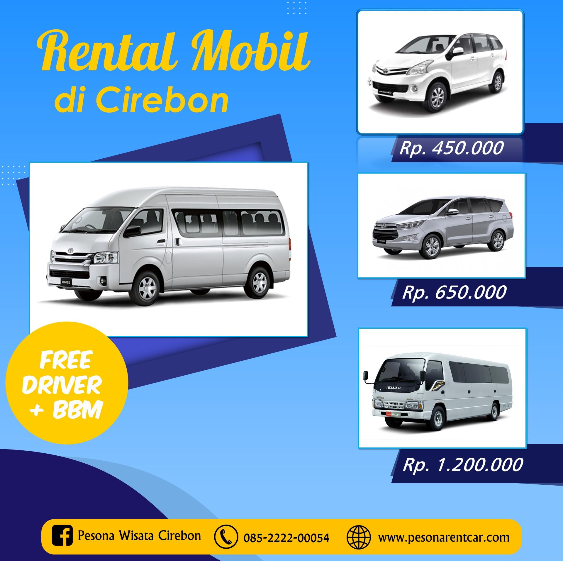 Harga Rental Mobil Di Cirebon Pesona Rent Car Cv Pesona Wisata